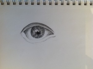 sketching a realistic eye