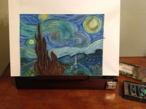starry night painted by christina