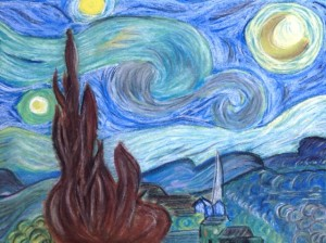 starry night painted by christina2